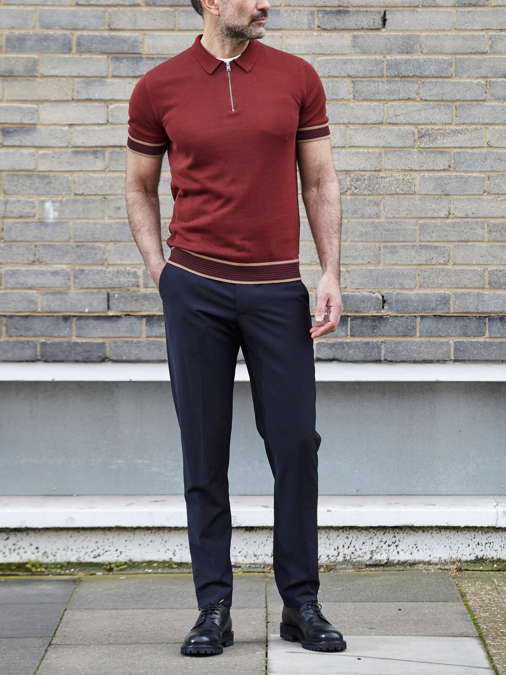 How to wear red short sleeve polo shirts | Thread.com