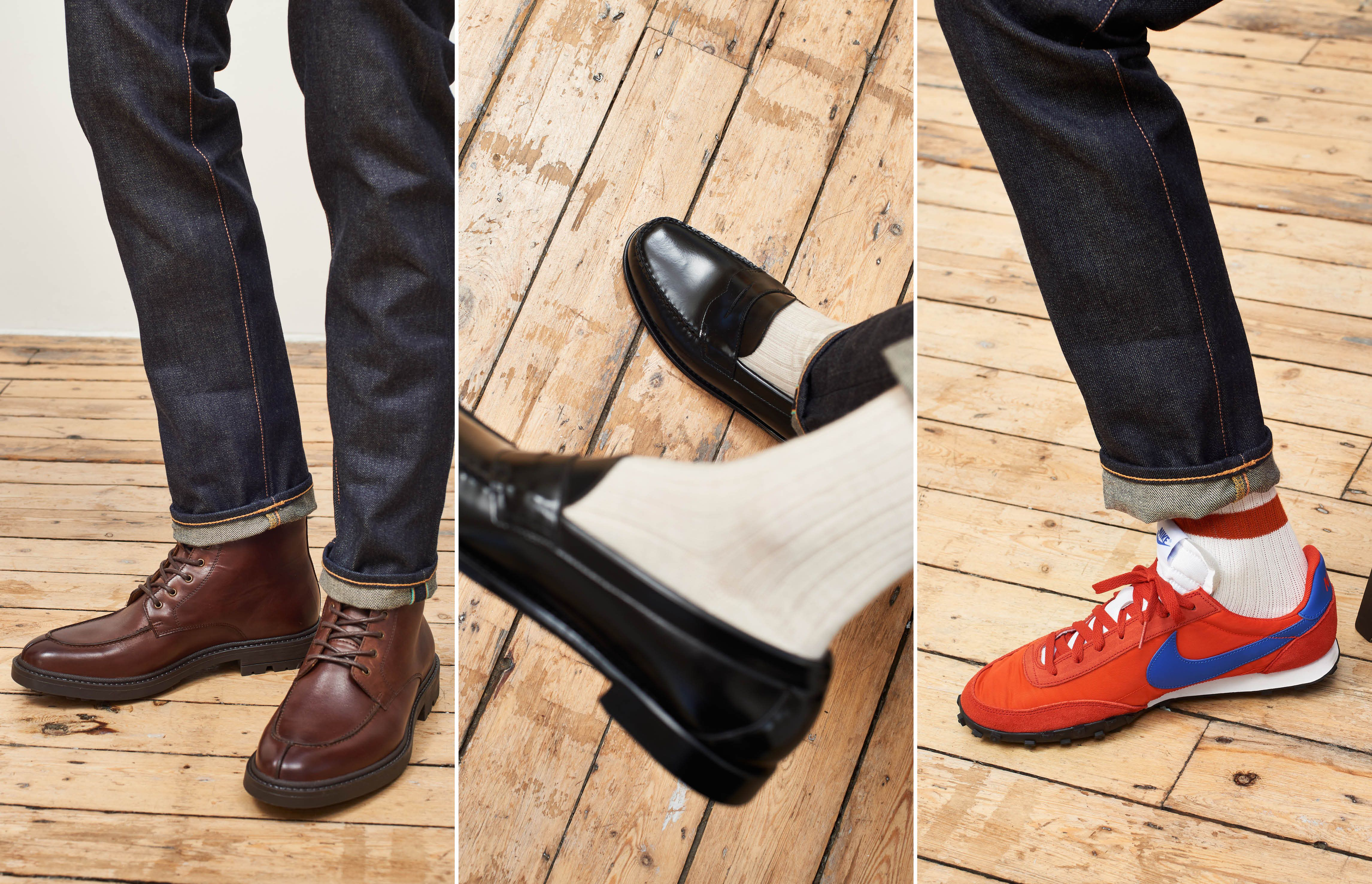 How three different shoes can change one outfit