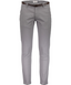 Classic stretch chino with belt in Grey