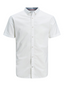 Slim Fit Linen Mix Shirt in White