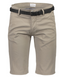Classic Chino Shorts with Belt in Neutral