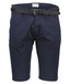 Classic Chino Shorts with Belt in Navy