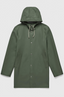 Stockholm Rubberised Cotton Raincoat in Green