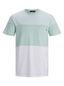 Colour Block T-shirt in Green and Neutral