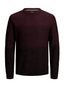 Dip Dye Crew Neck Knitted Jumper in Red