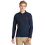 Slim Fit Organic Cotton Long Sleeve Polo in Navy