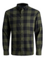 Gingham Twill Checked Shirt in Green