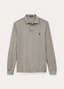 Slim Fit Long-Sleeve Polo in Neutral
