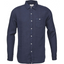 Casual Fit Organic Linen Shirt in Navy