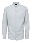 Slim Fit Linen Cotton Long Sleeve Shirt in Grey