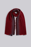 Louche Indigo Ombre Jacquard Woven Scarf Burgundy in Red