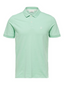 Short Sleeve Embroidered Polo Shirt in Green