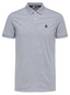 Short Sleeve Embroidered Polo Shirt in Grey