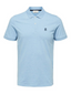 Short Sleeve Embroidered Polo Shirt in Blue