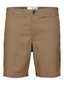 Straight Fit Flex Chino Shorts in Neutral