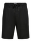 Linen Blend Chino Shorts in Black