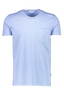 Relaxed Fit Cotton Short Sleeve T-Shirt in Blue