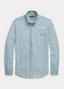 Slim Fit Chambray Shirt in Blue