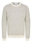 Organic Cotton Crew Neck Knitted Jumper in Neutral
