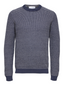 Organic Cotton Crew Neck Knitted Jumper in Navy