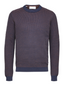 Organic Cotton Crew Neck Knitted Jumper in Purple