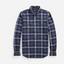 Slim Fit Checked Oxford Shirt in Green and Navy
