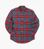 Slim Fit Checked Oxford Shirt in Red and Blue