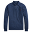 Slim Fit Long-Sleeve Polo in Navy