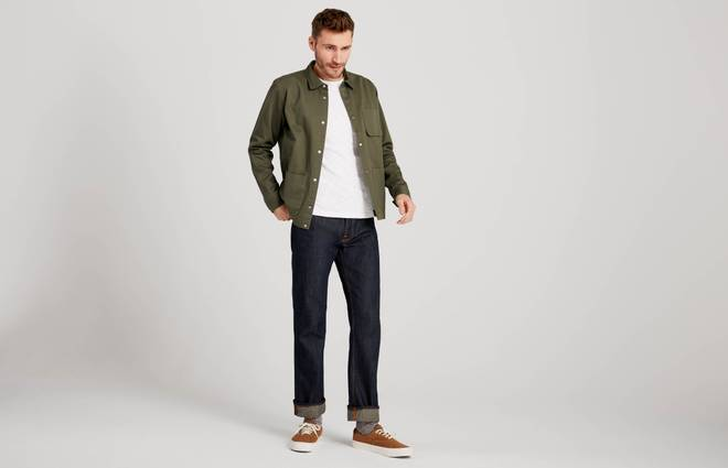 How straight-leg jeans should fit