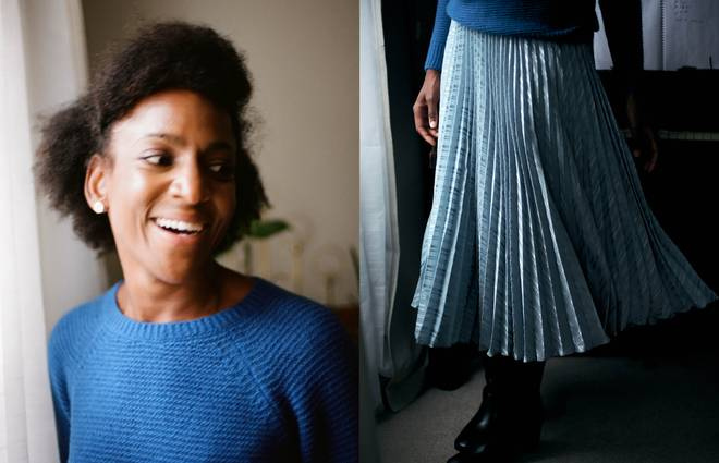How to wear a midi skirt in autumn